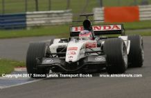 BAR Honda 007 Takuma Sato at speed Silverstone 2005. photo (1)